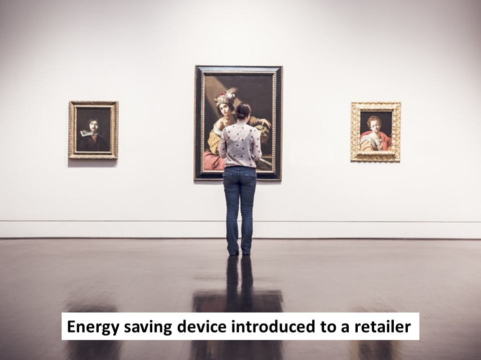 Energy saving device introduced to a retailer - labelled image - JM - 22.10.15